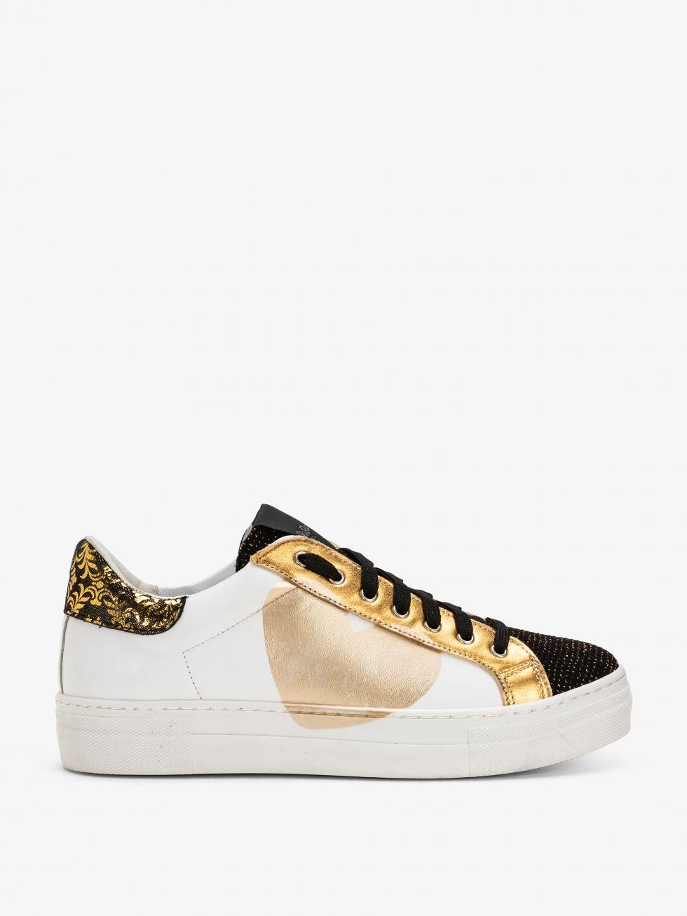 Sneakers Martini Bianco Luxury Gold - Cuore