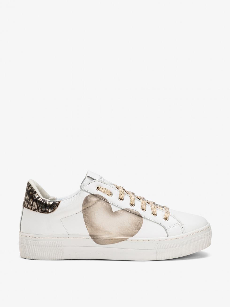 Sneakers Martini Bianco - Cuore Jaguar Silver