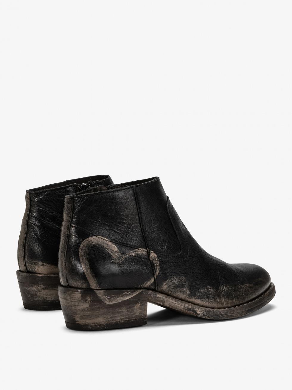 Boots Mojito Nero - Cuore