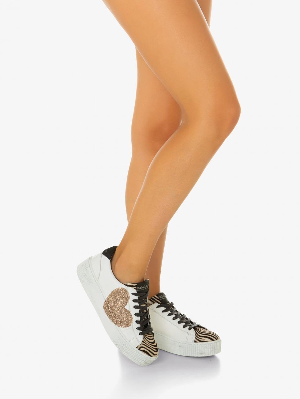 Sneakers Cosmopolitan Mini Zebrina - Cuore Glitter