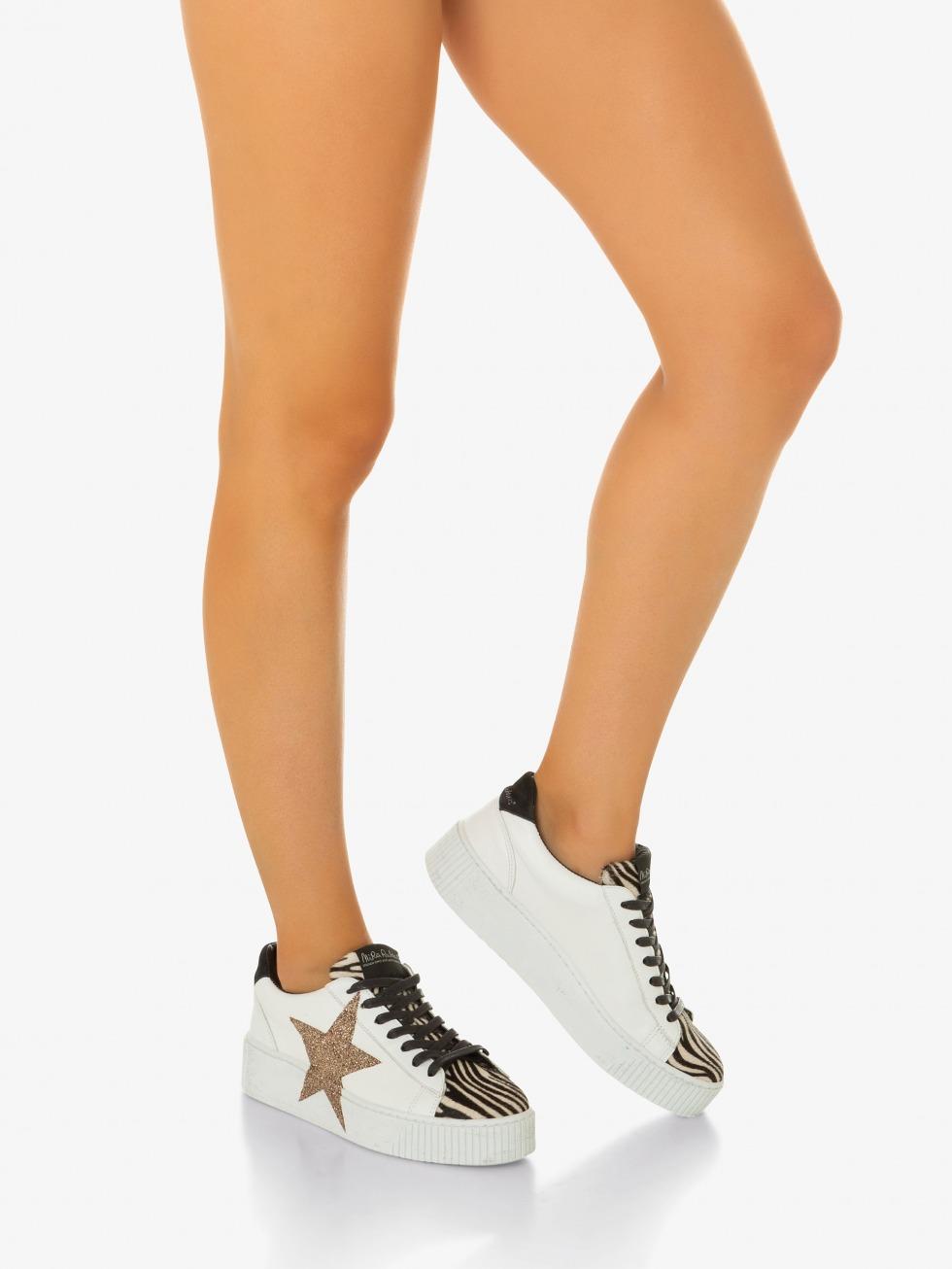 Sneakers Cosmopolitan Mini Zebrina - Stella Glitter