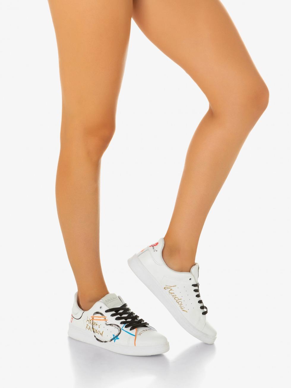 Sneakers colorate con disegni e scritte - NiRa Rubens