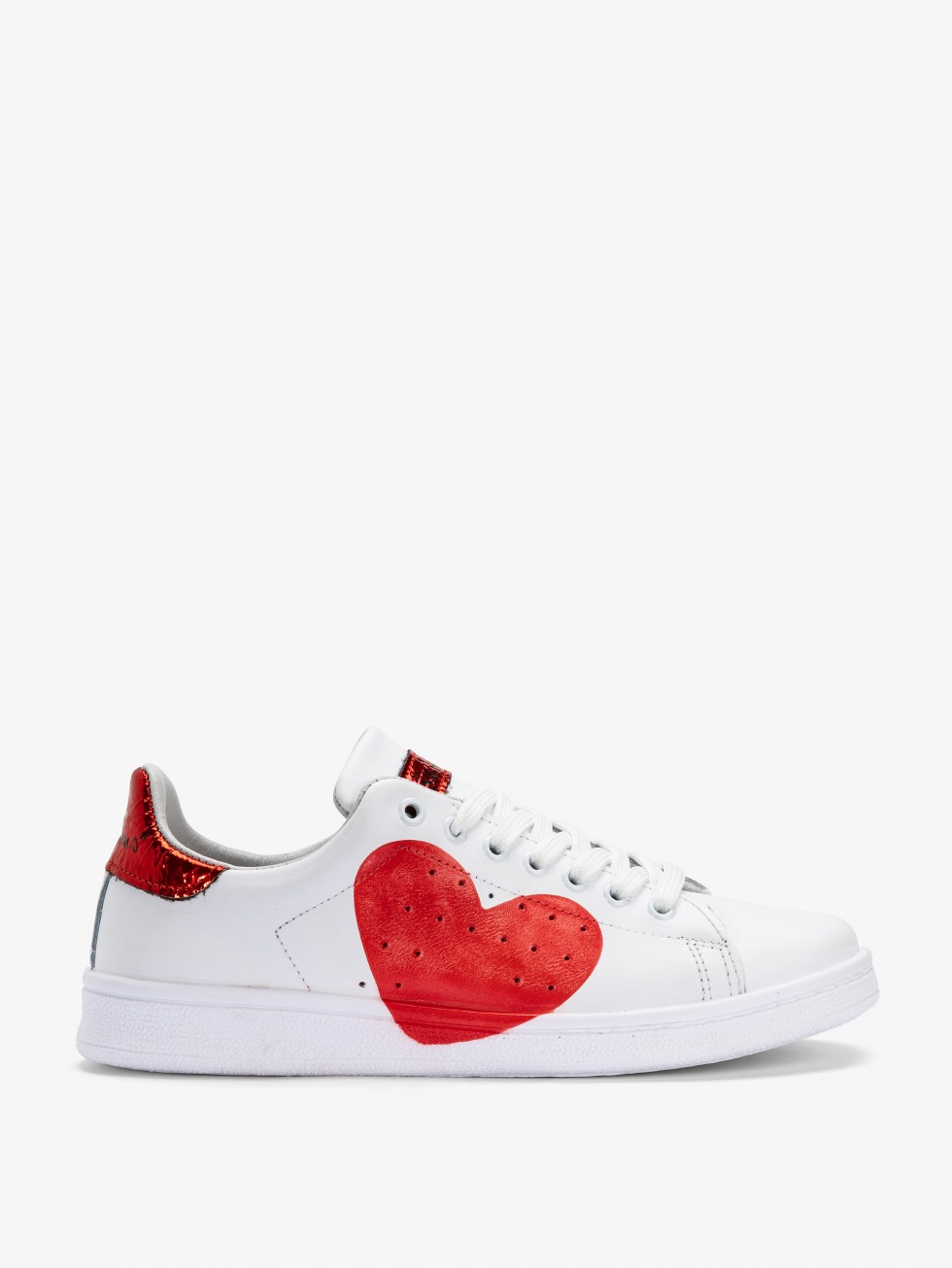 Sneakers Daiquiri Bianco - Cuore Space Red