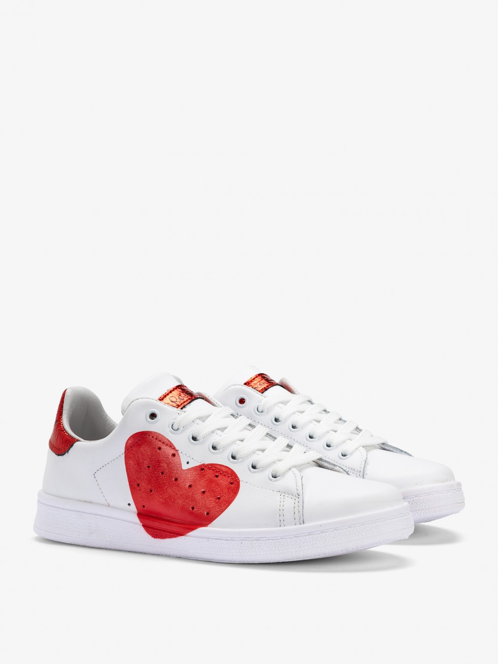 Daiquiri White Sneakers - Space Red Heart