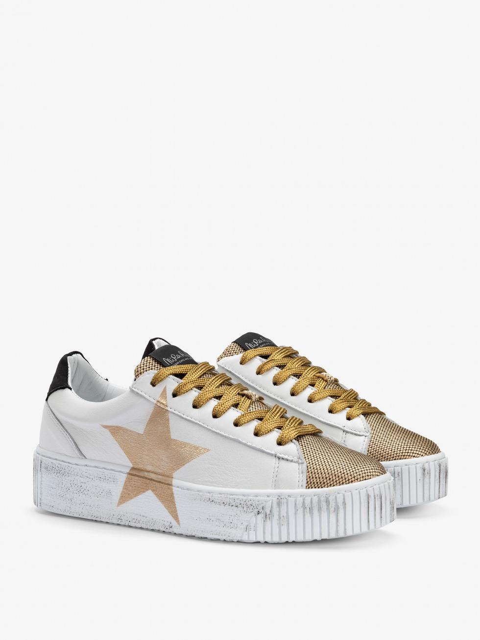 Cosmopolitan Sneakers - Gold Satin Star