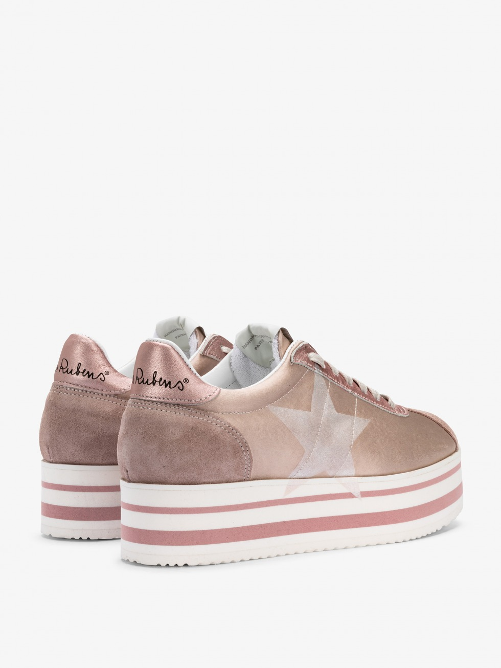 Sneakers con zeppa - White Lady Satin Cipria