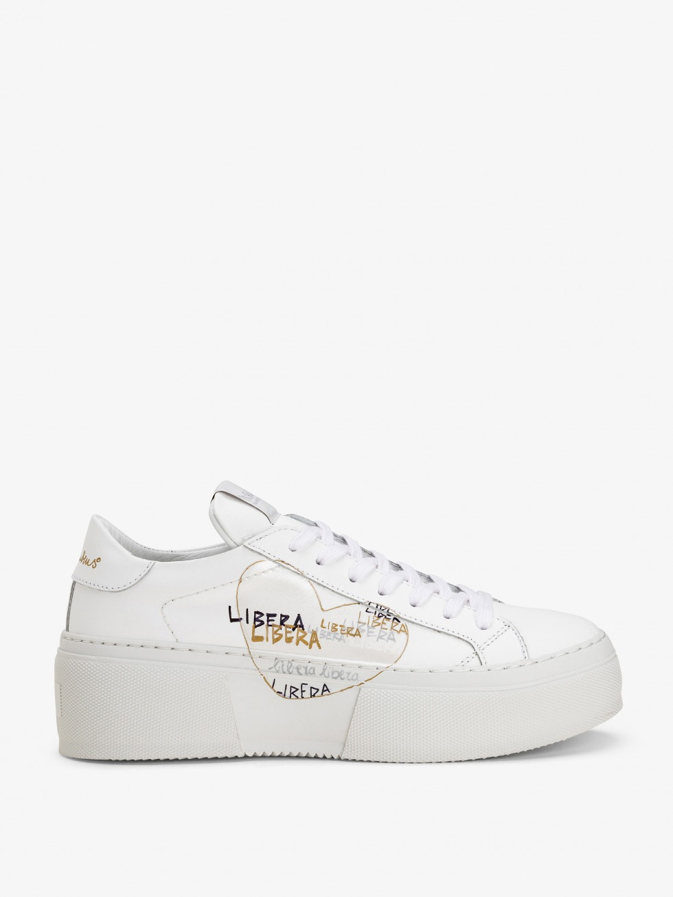 Platform Mimosa Sneakers - White Libera Heart