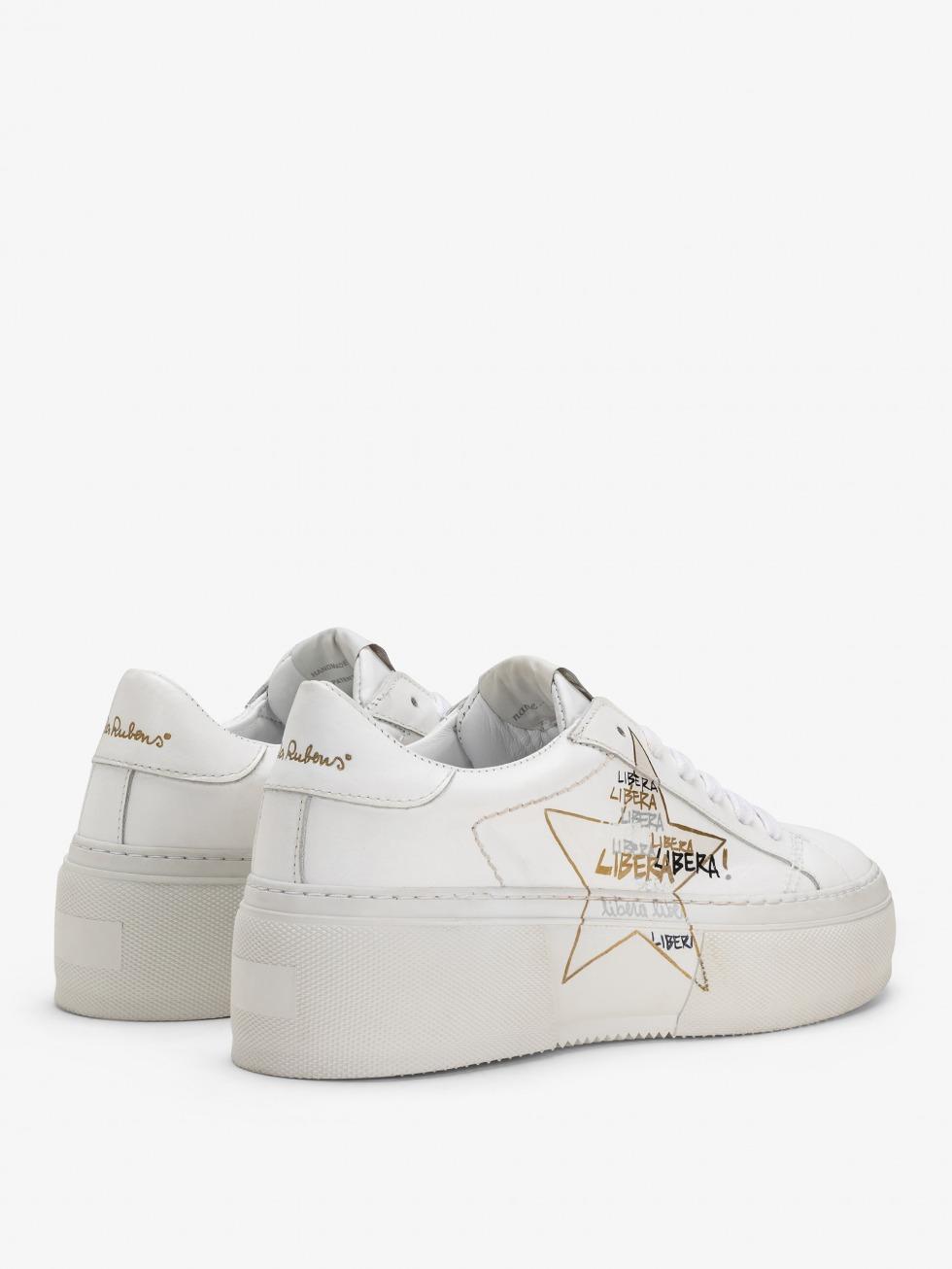Platform Sneakers Mimosa - Stella White Libera