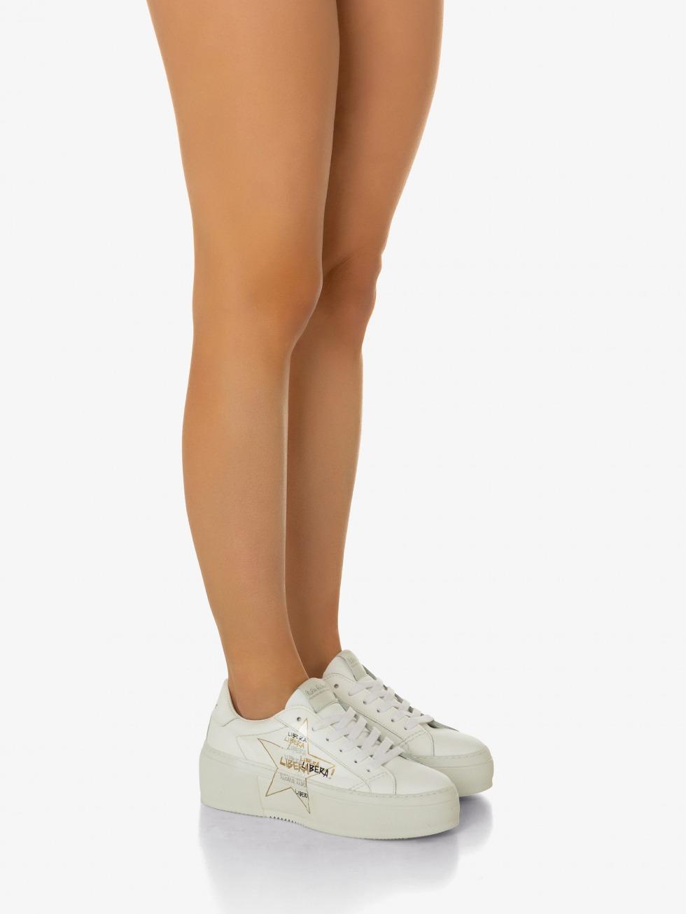 Platform Mimosa Sneakers - White Libera Star