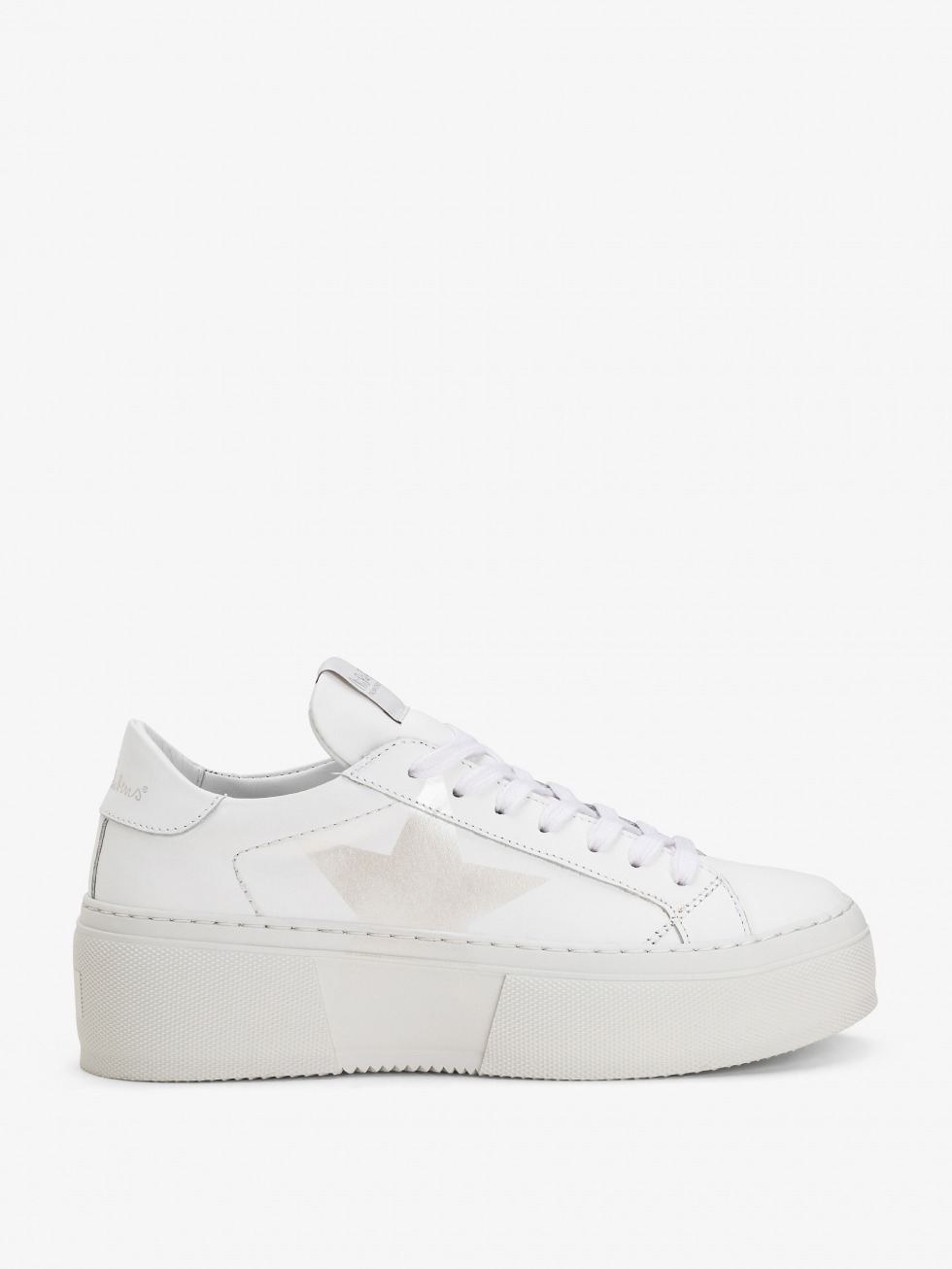 Platform Mimosa White Sneakers - Nacre Star