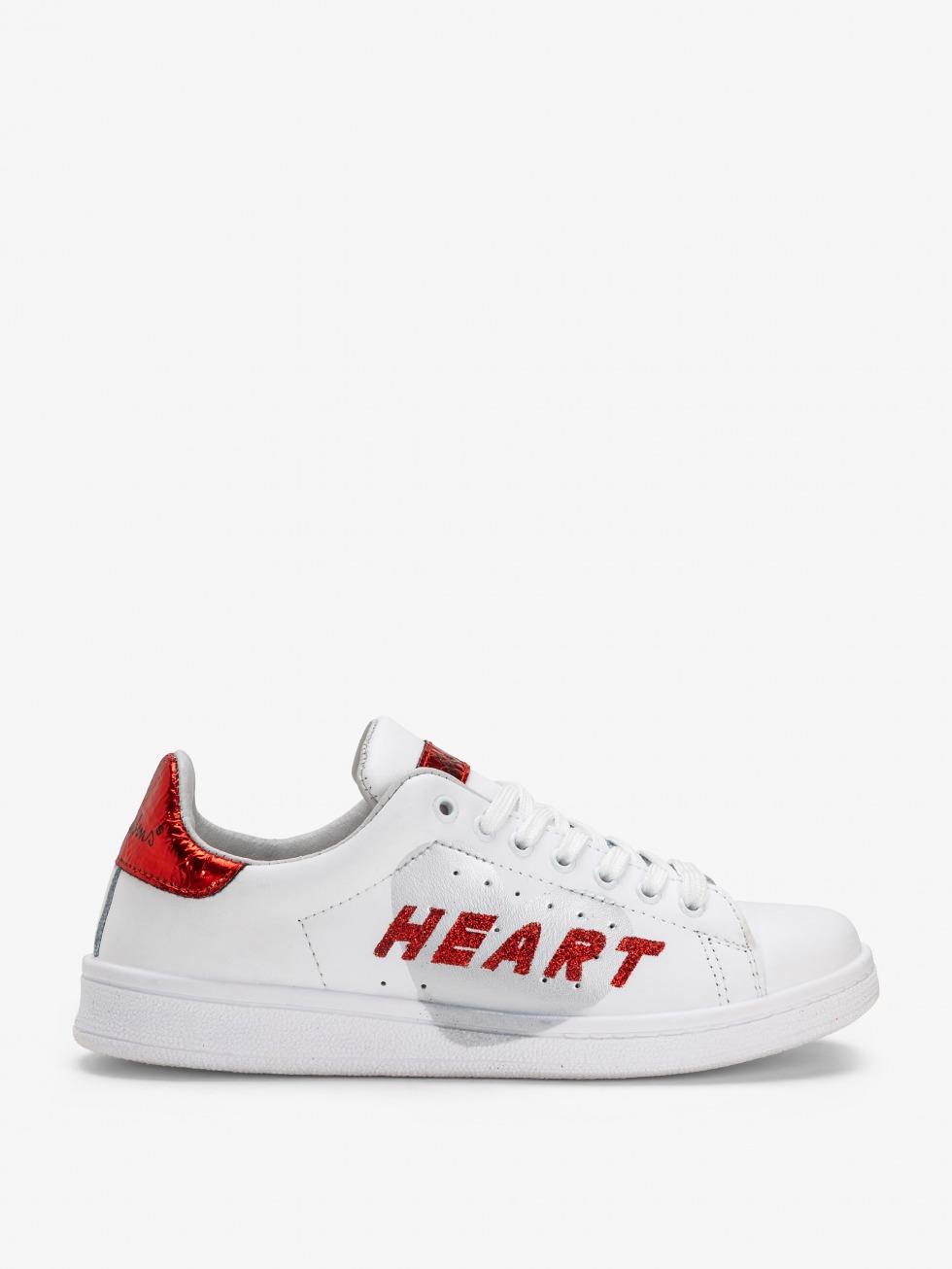 Sneakers Daiquiri - Cuore Space Red Glitter