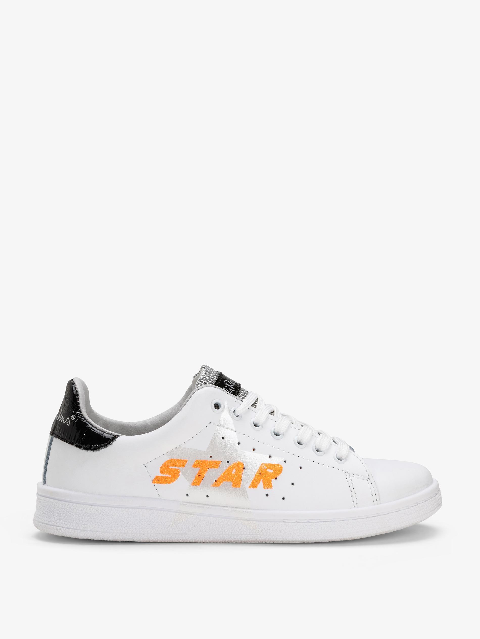 Da Bianche Stella E Glitter Con Decorazione Donna Dettagli Sneakers A l3JFTK1c