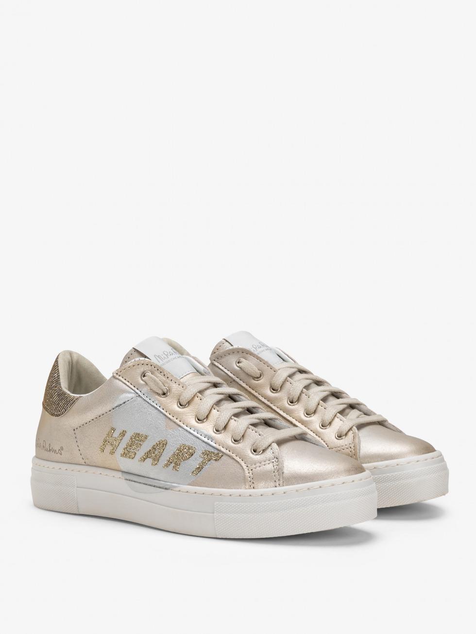 Sneakers Martini - Shine Gold Glitter Cuore