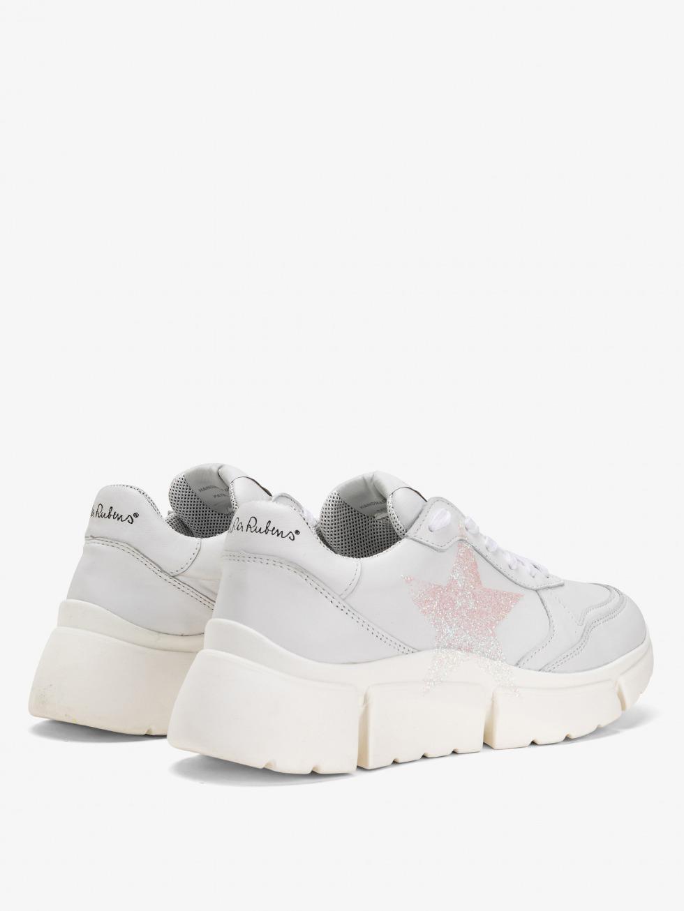 Stinger Chunky Sneakers - White Glitter Star