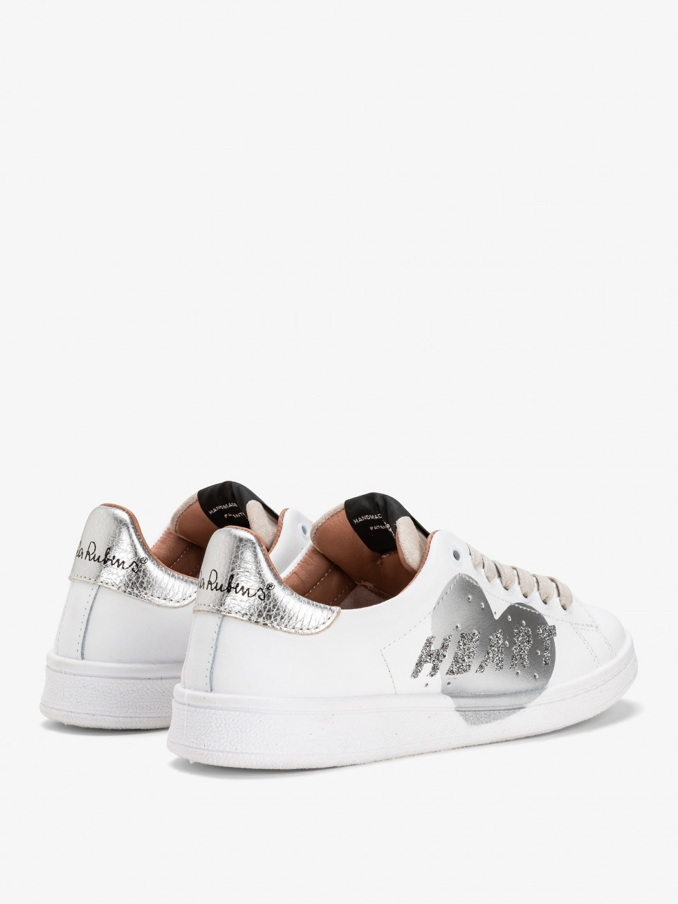 Daiquiri Sneakers - Moon Silver Race Heart