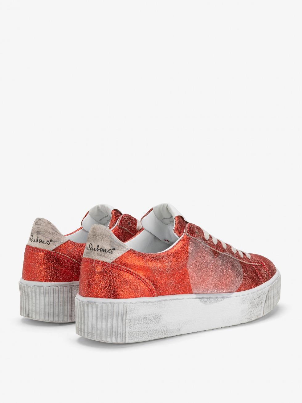 Cosmopolitan Vintage Red Sneakers - Heart