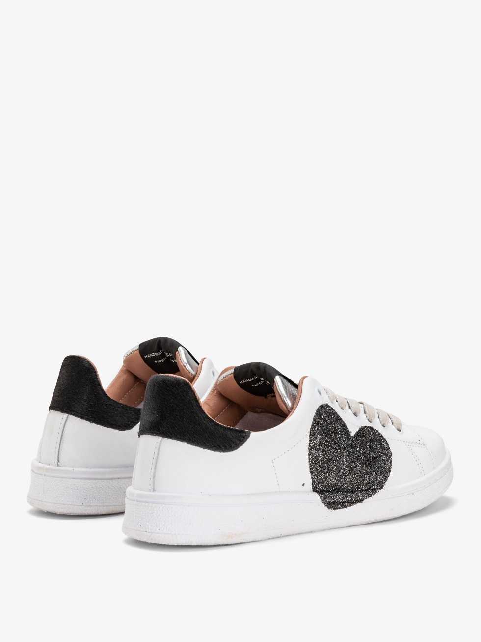 Daiquiri Sneakers - Black glitter Heart