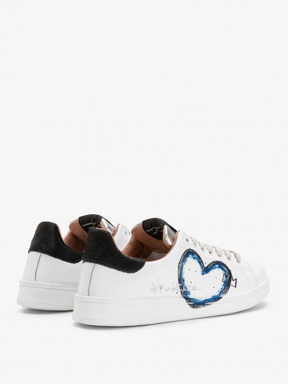 Sneakers Daiquiri - Black Art of Heart Blue