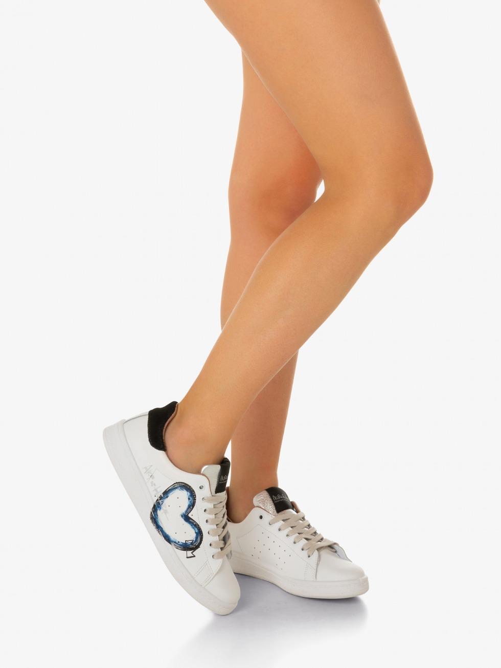 Daiquiri Sneakers - Black Art of Heart Blue