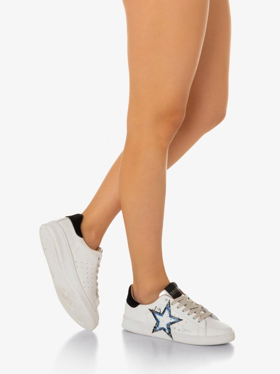 Daiquiri Sneakers - Black Art of Star Blue