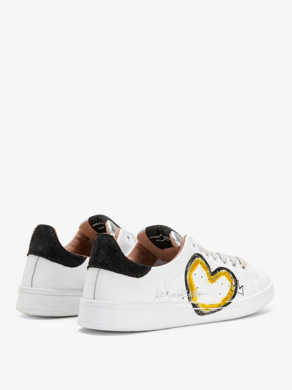 Daiquiri Sneakers - Black Art of Heart Yellow