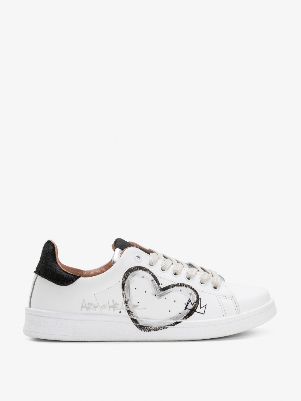 Daiquiri Sneakers - Black Art of Heart Silver
