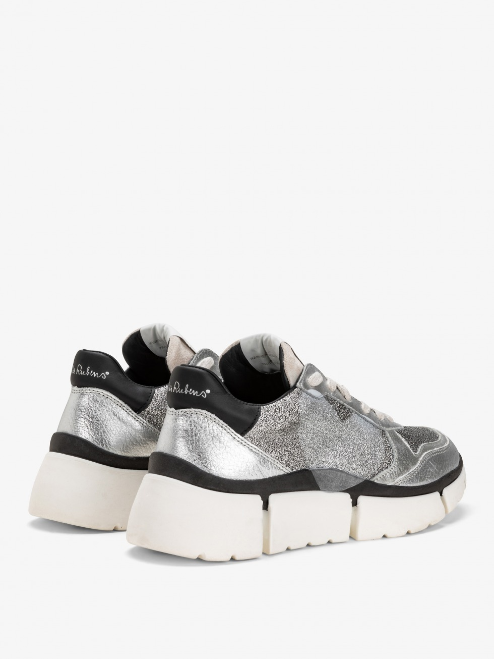 Moon Silver Stinger Chunky Sneakers - Heart
