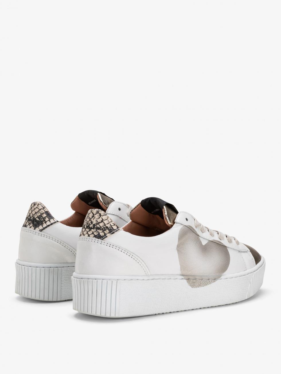 Cosmopolitan Python Sneakers - Platinum Heart