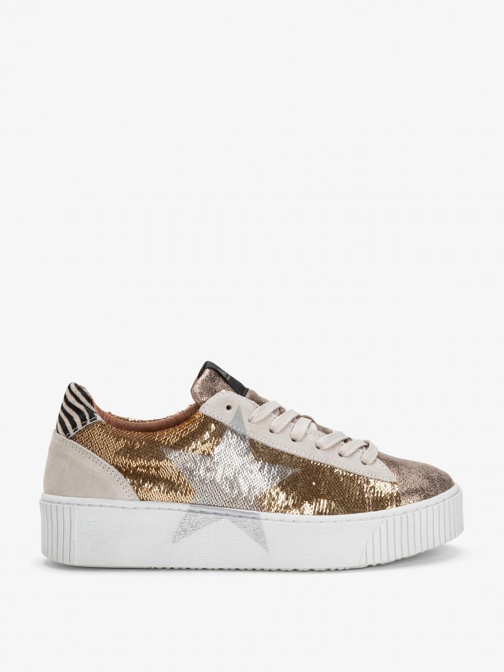 Cosmopolitan Sparkle Gold Sneakers - Star