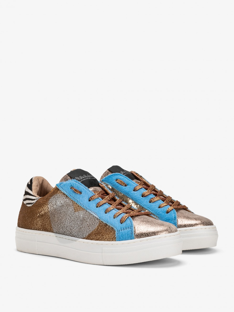 Sparkle Gold Sky Martini Sneakers - Heart