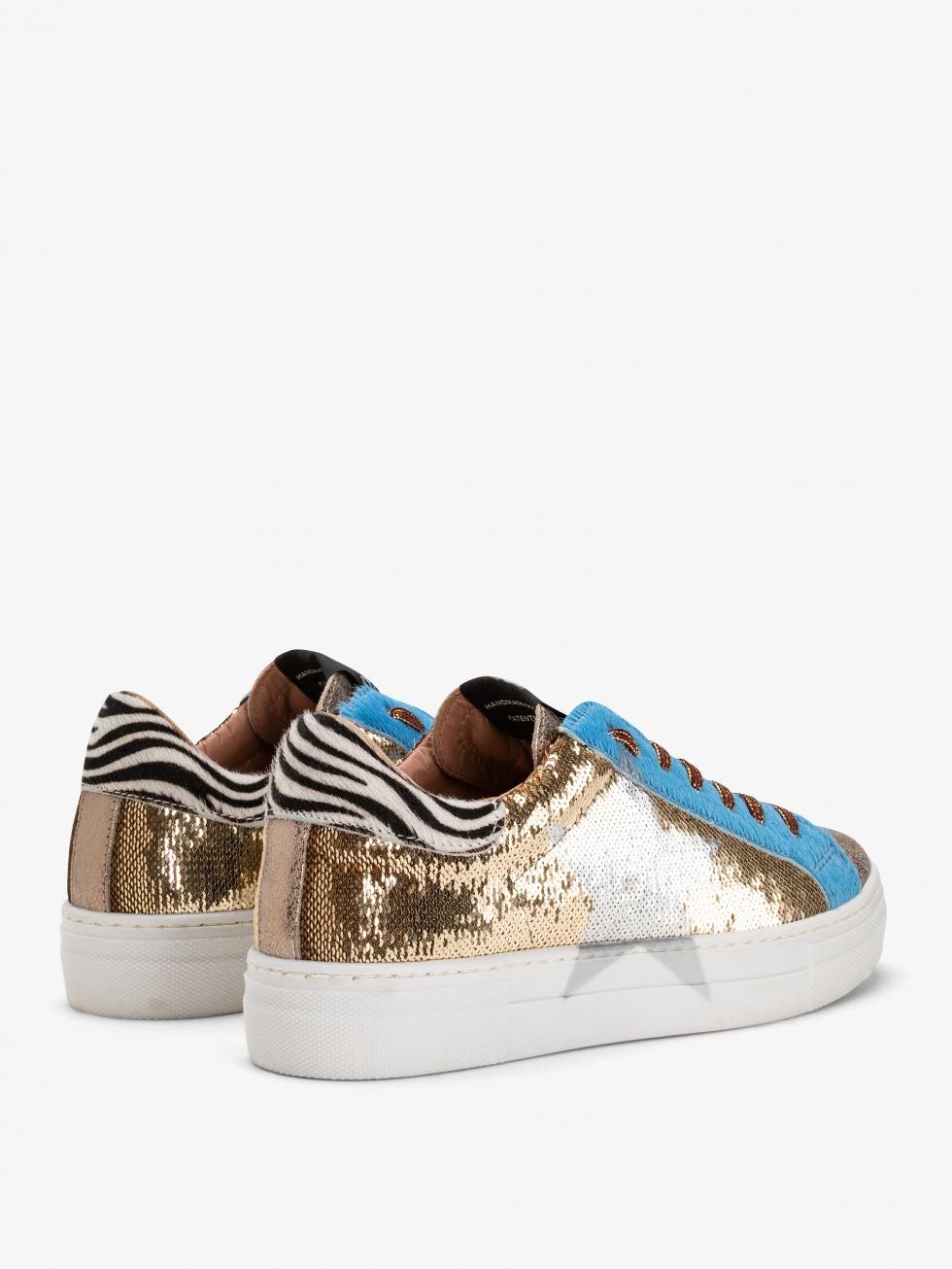 Sparkle Gold Sky Martini Sneakers - Star