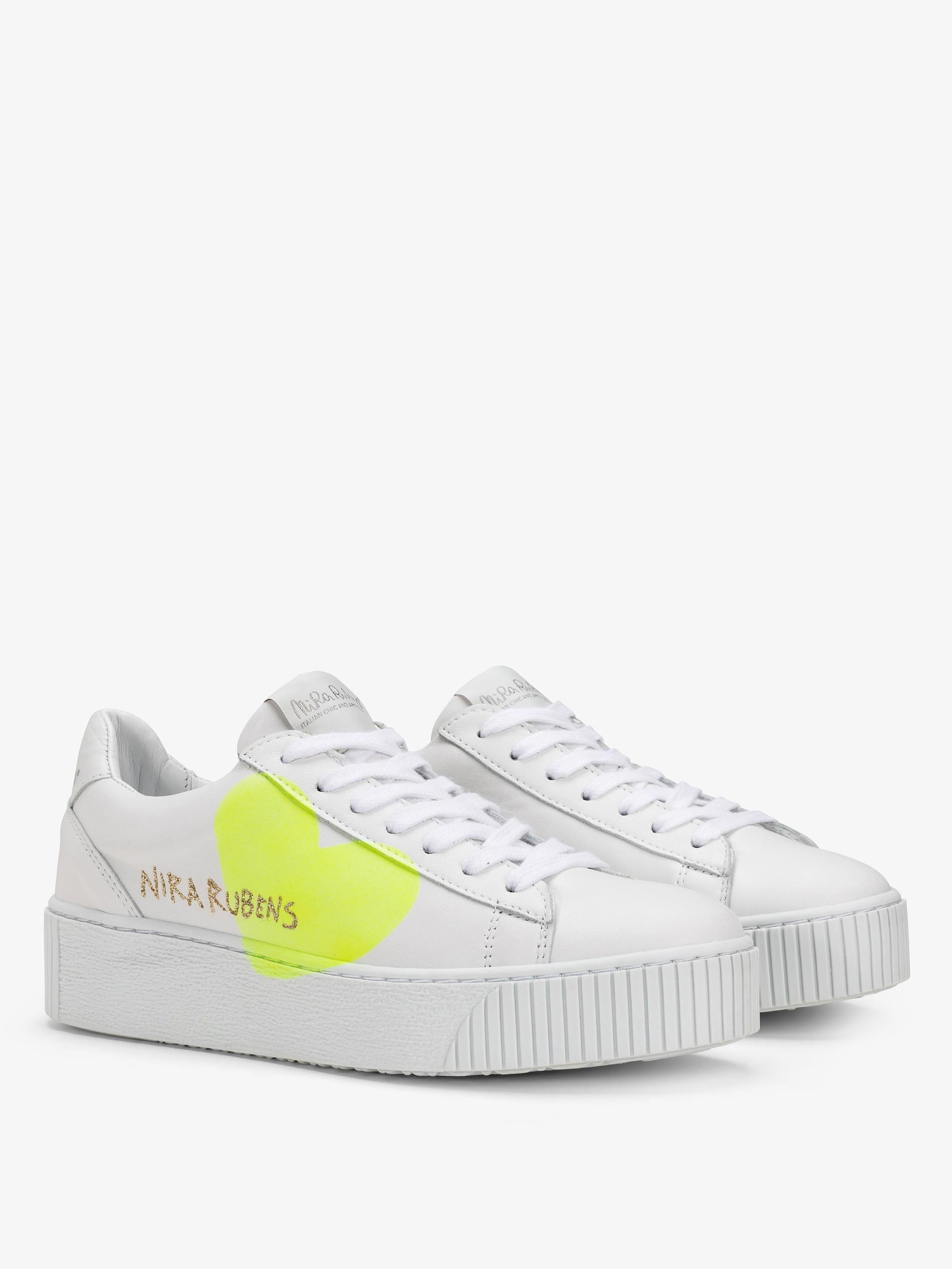 selezione premium b5d29 48e6b Sneakers Cosmopolitan - Cuore Yellow Fluo