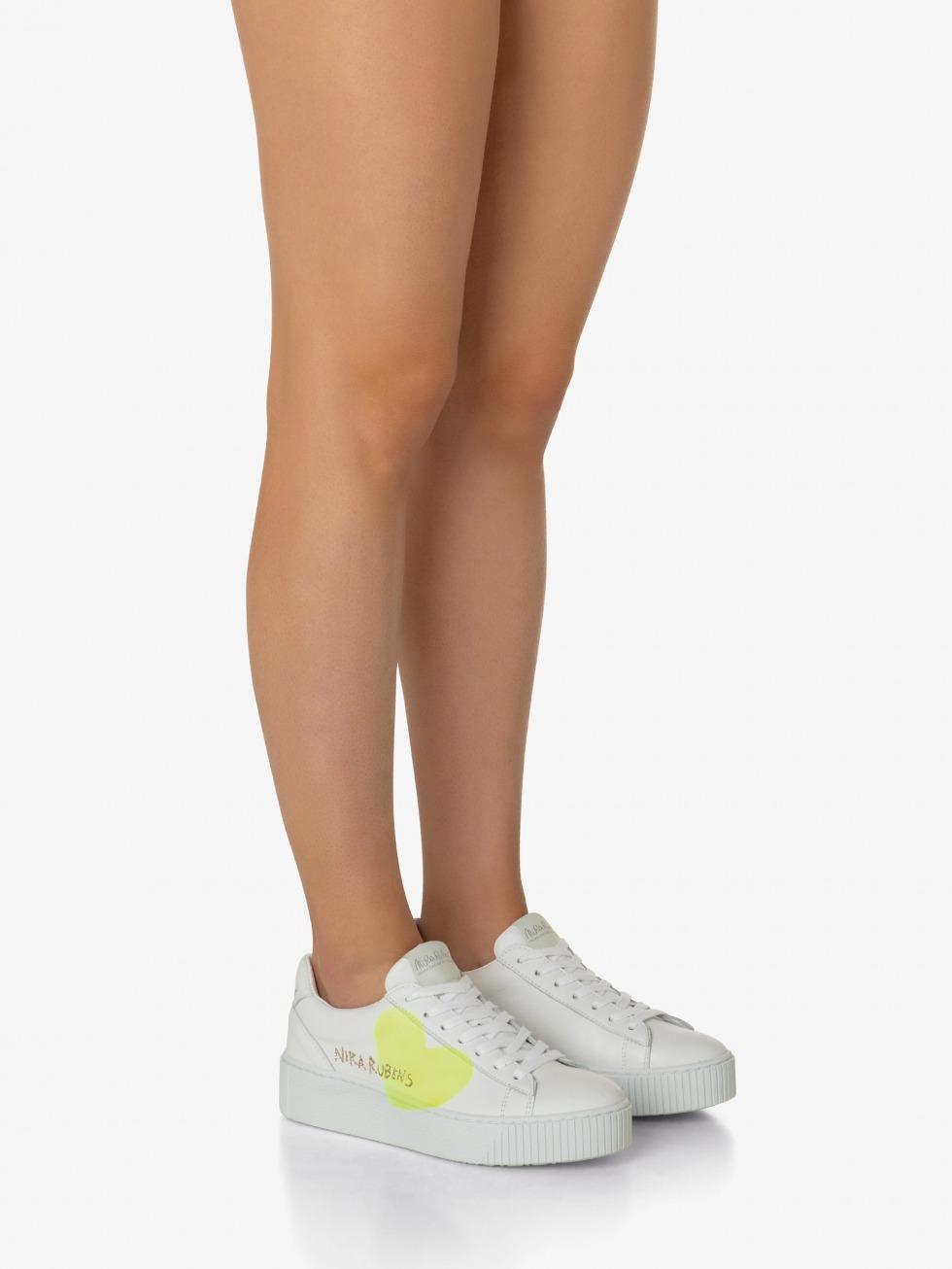 Cosmopolitan Sneakers - Heart Yellow Fluo