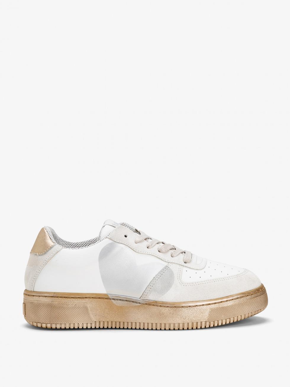 Sneakers Manhattan - Heart White Gold