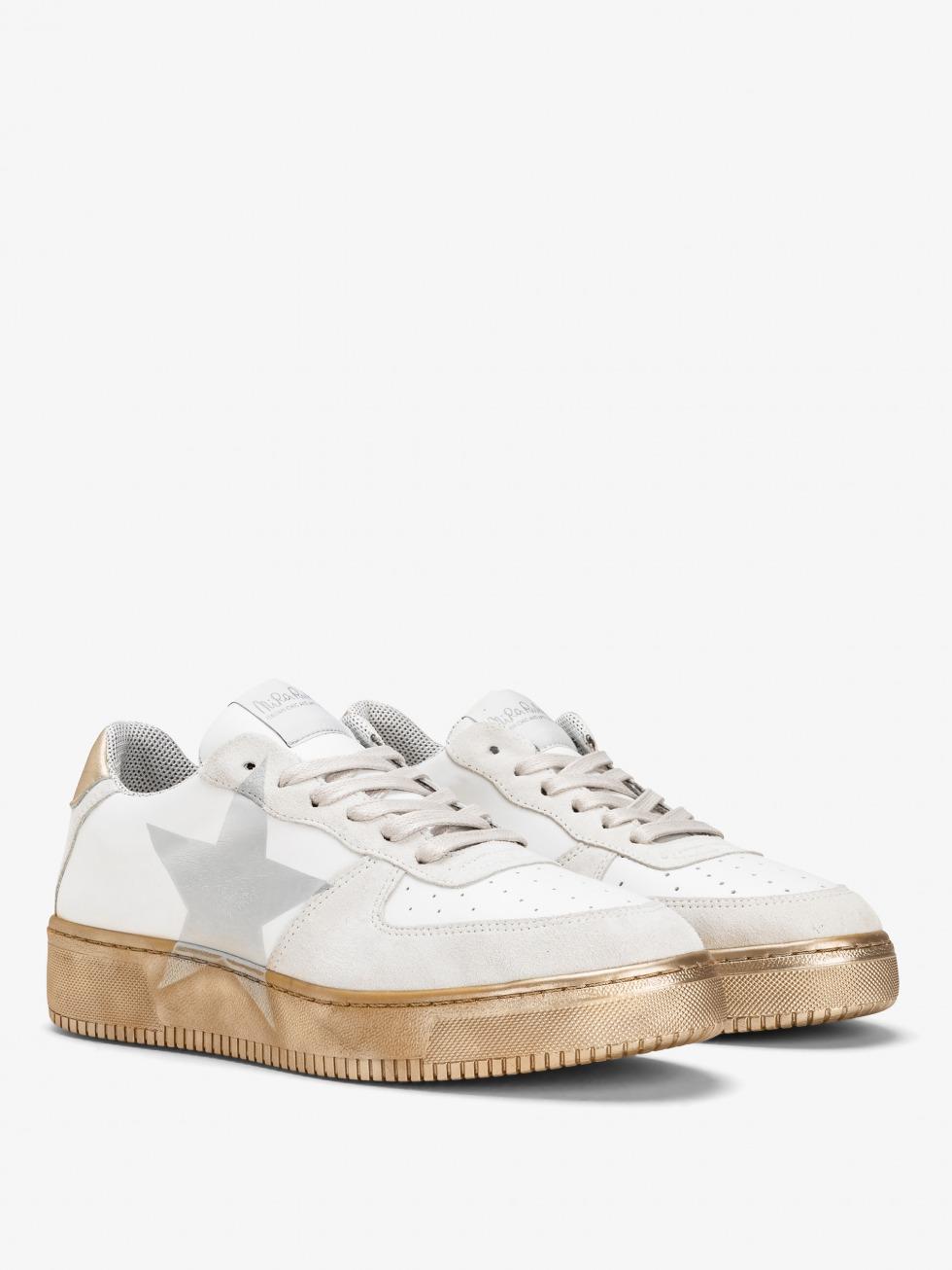 Sneakers Manhattan - Star White Gold