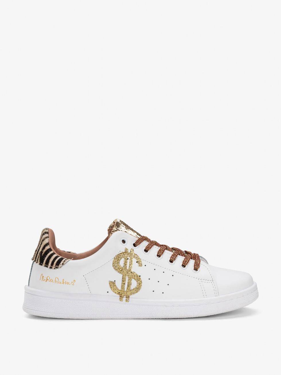 Daiquiri Sparkle Mini Zebrina Sneakers - Gold Dollar