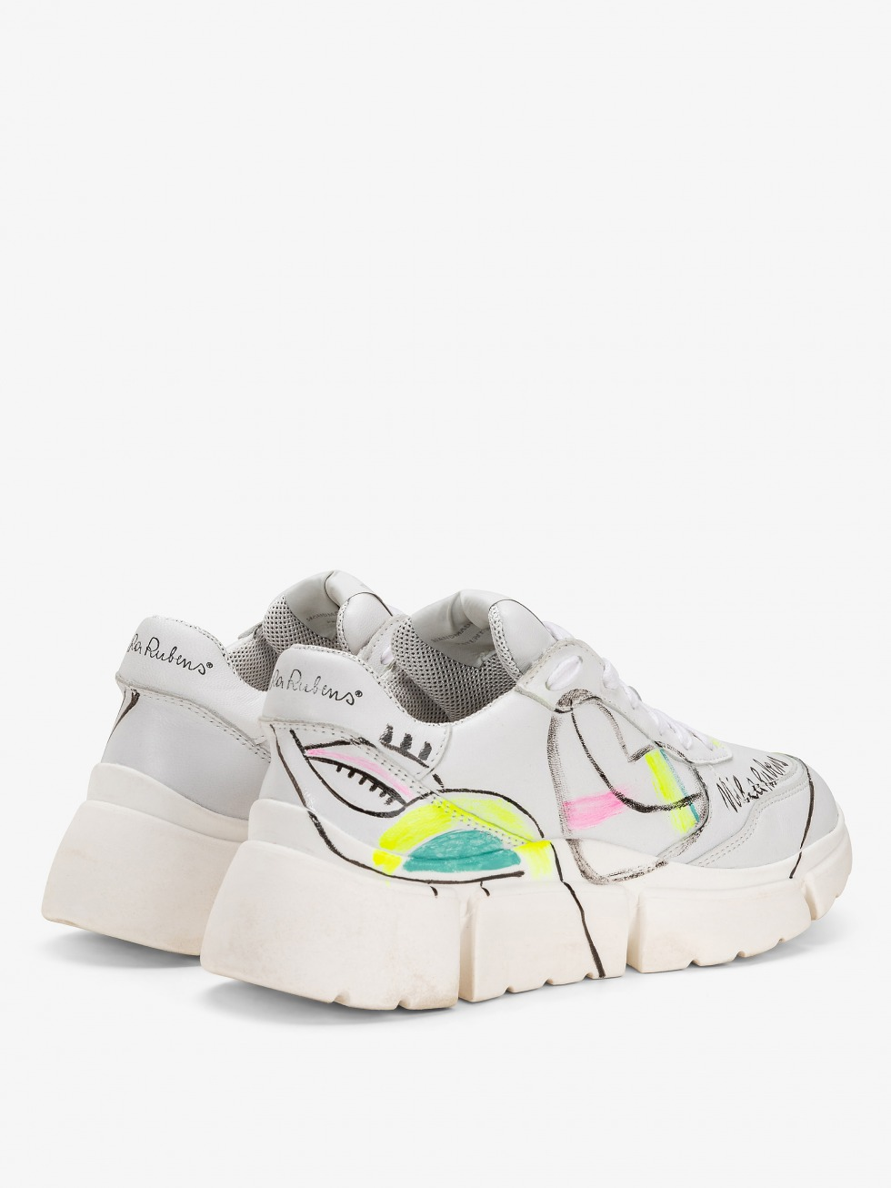 Stinger Chunky Sneakers -Art Heart