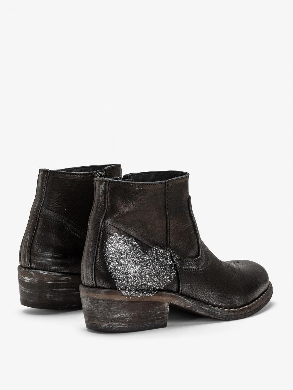 Mojito Boots Sparkle Raven - Heart