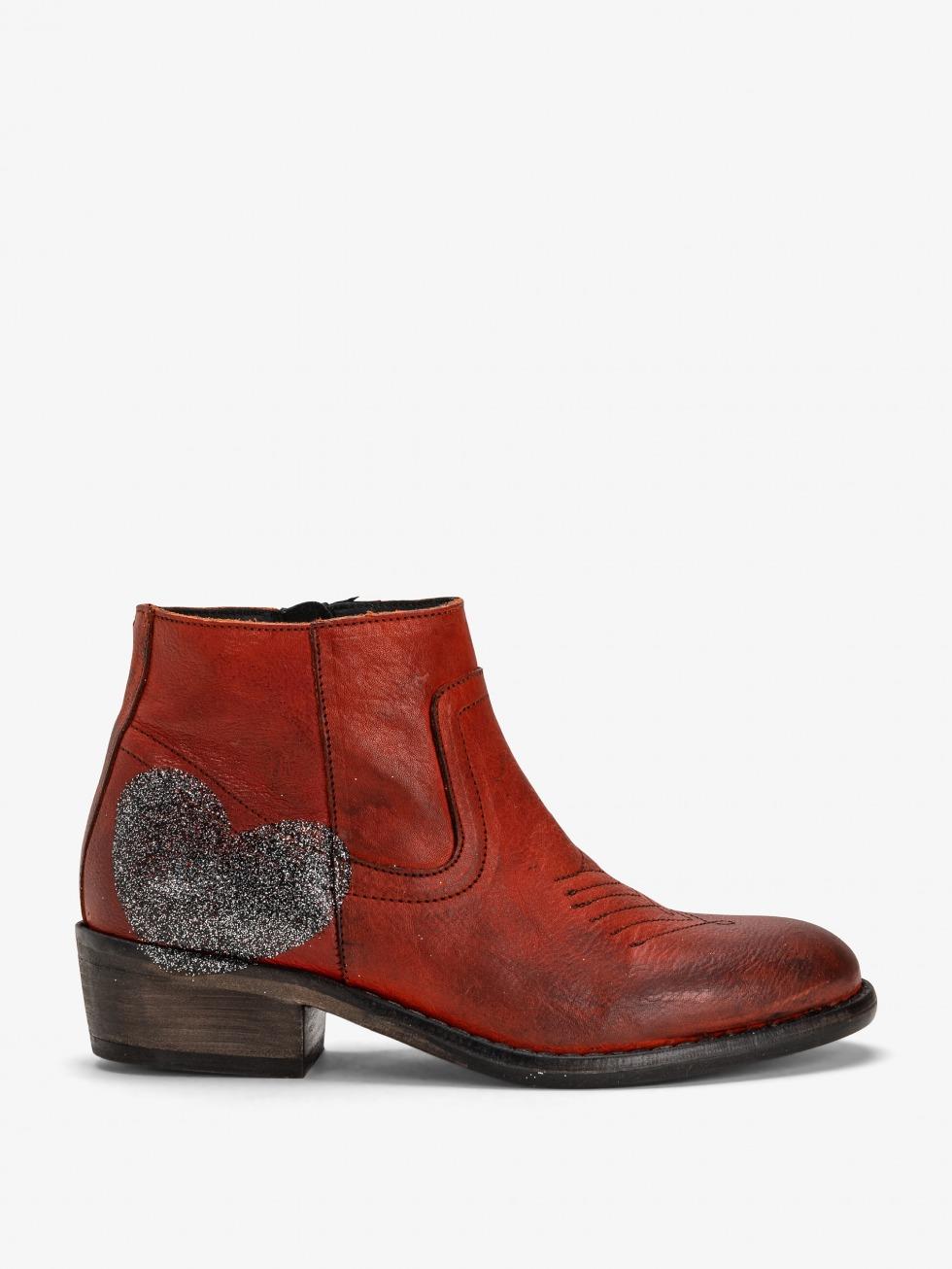 Mojito Boots Sparkle Rust - Heart