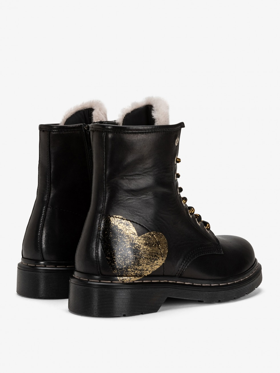 Bloody Mary Boots Shearling  - Glitter Bronze Star