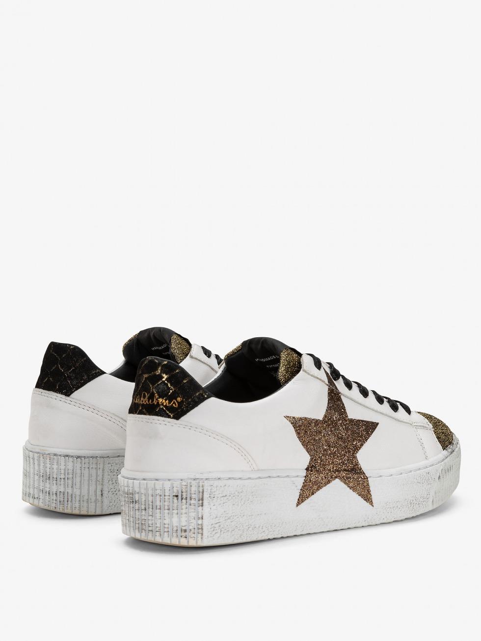 Cosmopolitan Sneakers - Glam Gold Glitter Star