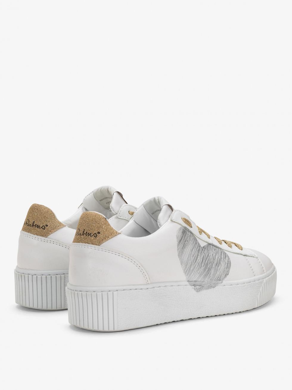 Cosmopolitan Sneakers - Luxury Gold Heart