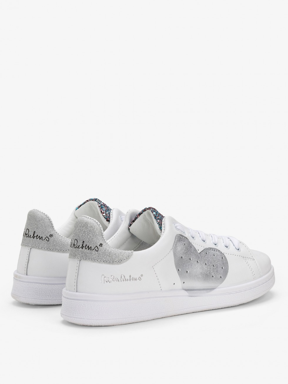 Daiquiri Sneakers - Shiny Silver Heart