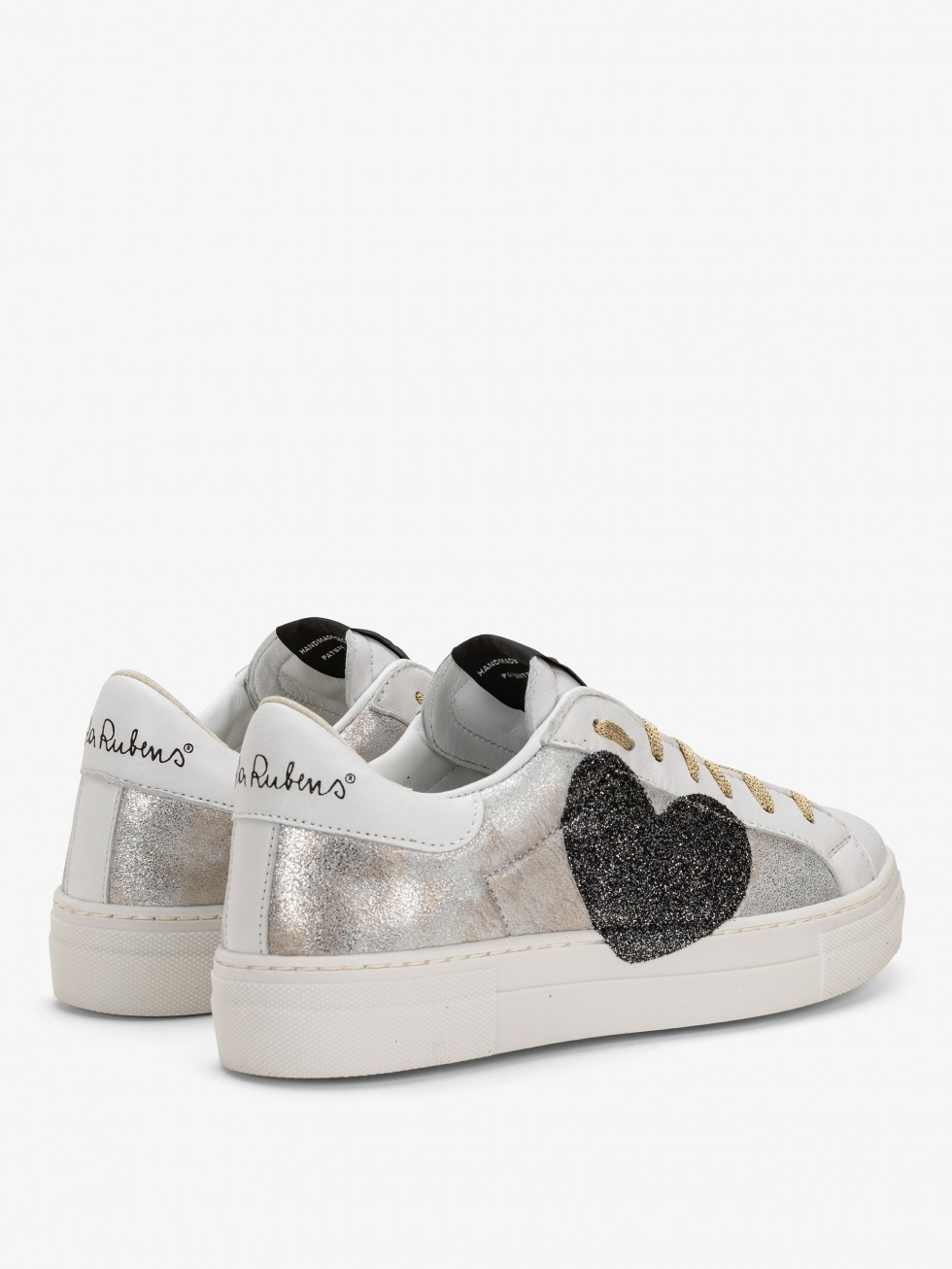 Gold Vintage Martini Sneakers - Heart