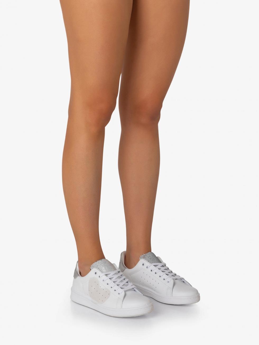 Daiquiri Sneakers - Sparkle Silver Heart