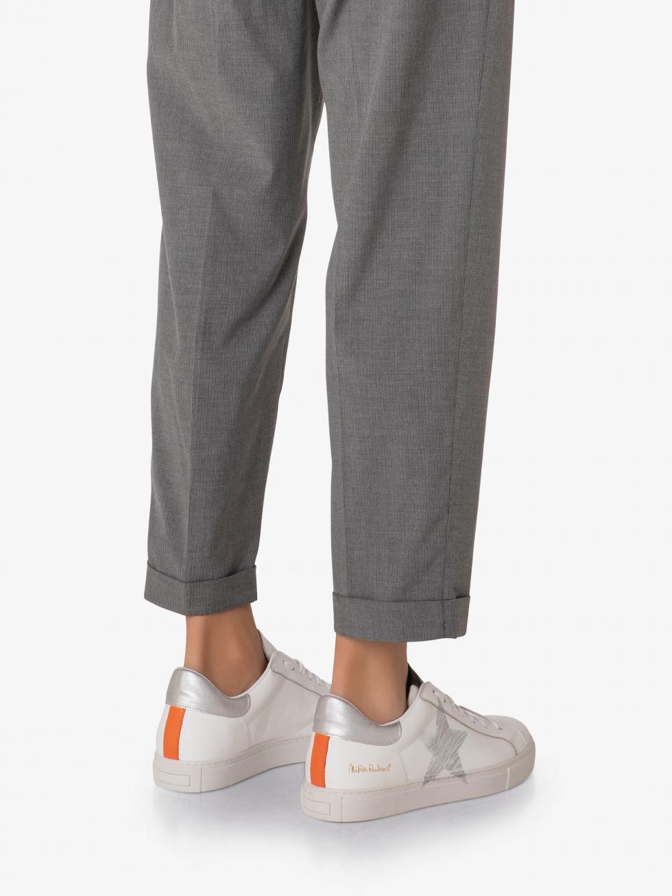 Martini M Sneakers - Orange Silver Star