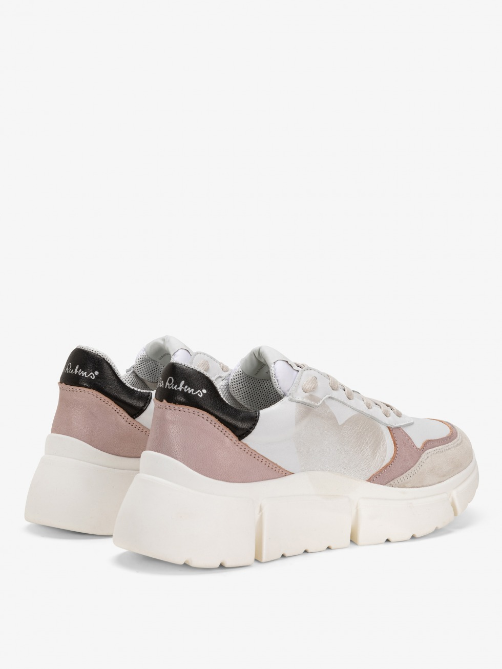 Stinger Chunky Nude Sneakers - Heart