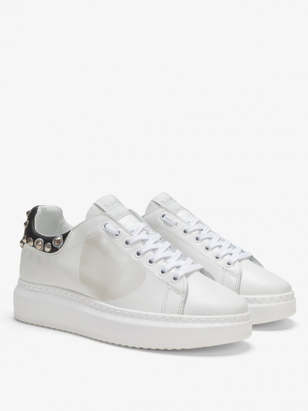 Angel Sneakers - White Rock Totem Heart