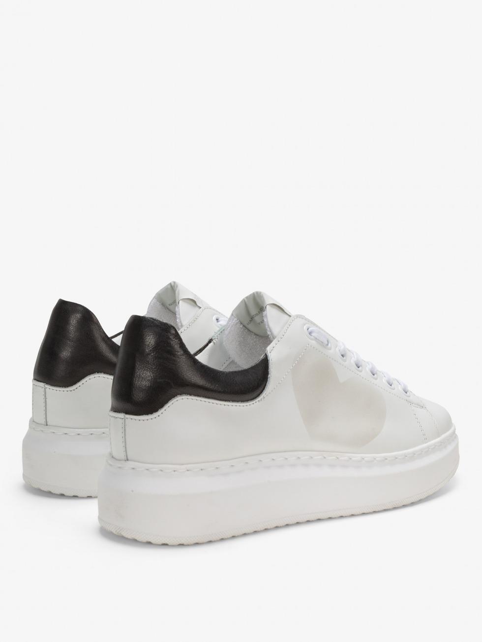 Angel Sneakers White Black - Heart
