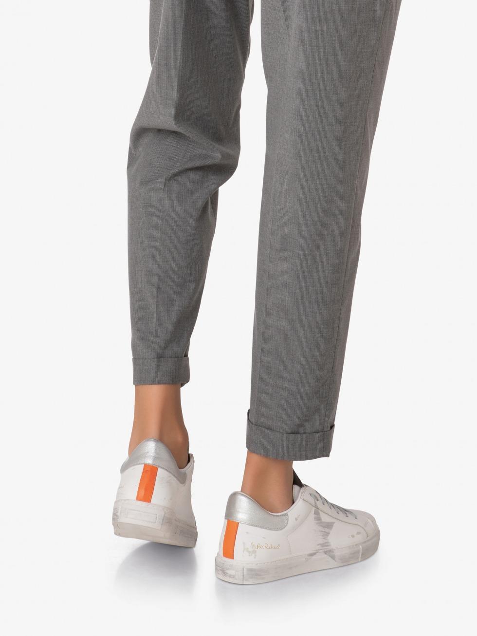 Martini M Sneakers - Vintage Orange Silver Star